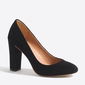 J. Crew suede block heel pumps